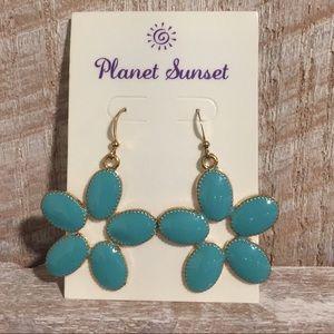 Planet Sunset Flower Earrings
